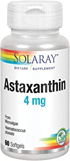 Solaray Astaxanthin 4 mg | Antioxidant | Healthy Eye, Skin, Cardiovascular Function & Joint Support | 60 Softgels