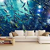 Gran mundo submarino papel tapiz tienda de madre y bebé papel tapiz océano tema acuario fondo pared habitación de los niños mural personalizado-150X105CM