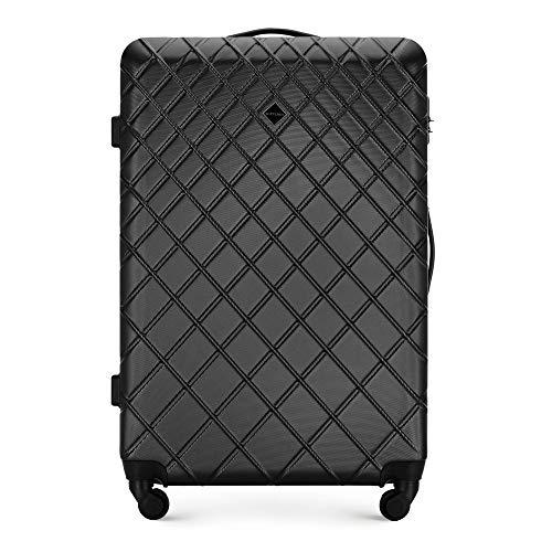WITTCHEN Koffer – Großer | hartschalen, Material: ABS | hochwertiger und Stabiler | Schwarz | 78x52x29 cm