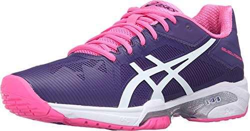 ASICS Women'S Gel-Solution Speed 3 Tennis Shoe, Parachute Purple/White/Hot Pink, 6 M US