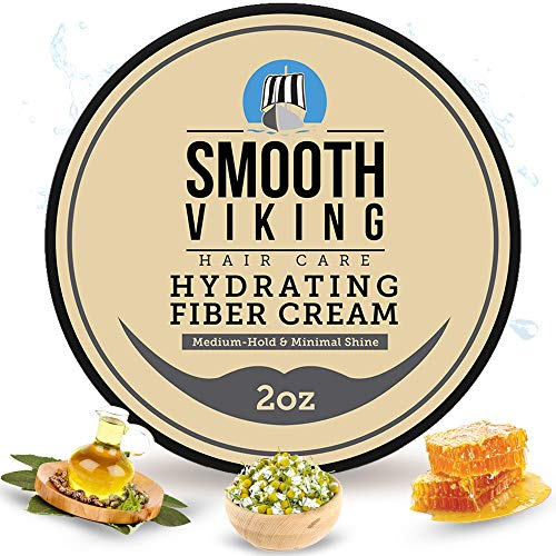 Hair Cream For Men | Smooth Viking Hydrating Fiber Cream for Styling (2 Ounces) - Hair Styling Cream...