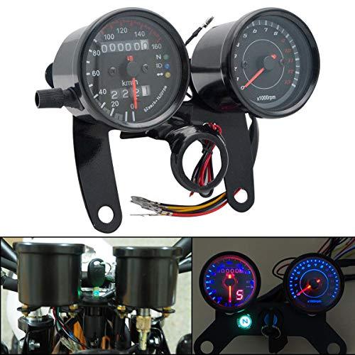 Maso, contachilometri digitale a LED, doppio contachilometri per moto, contagiri con luce nera