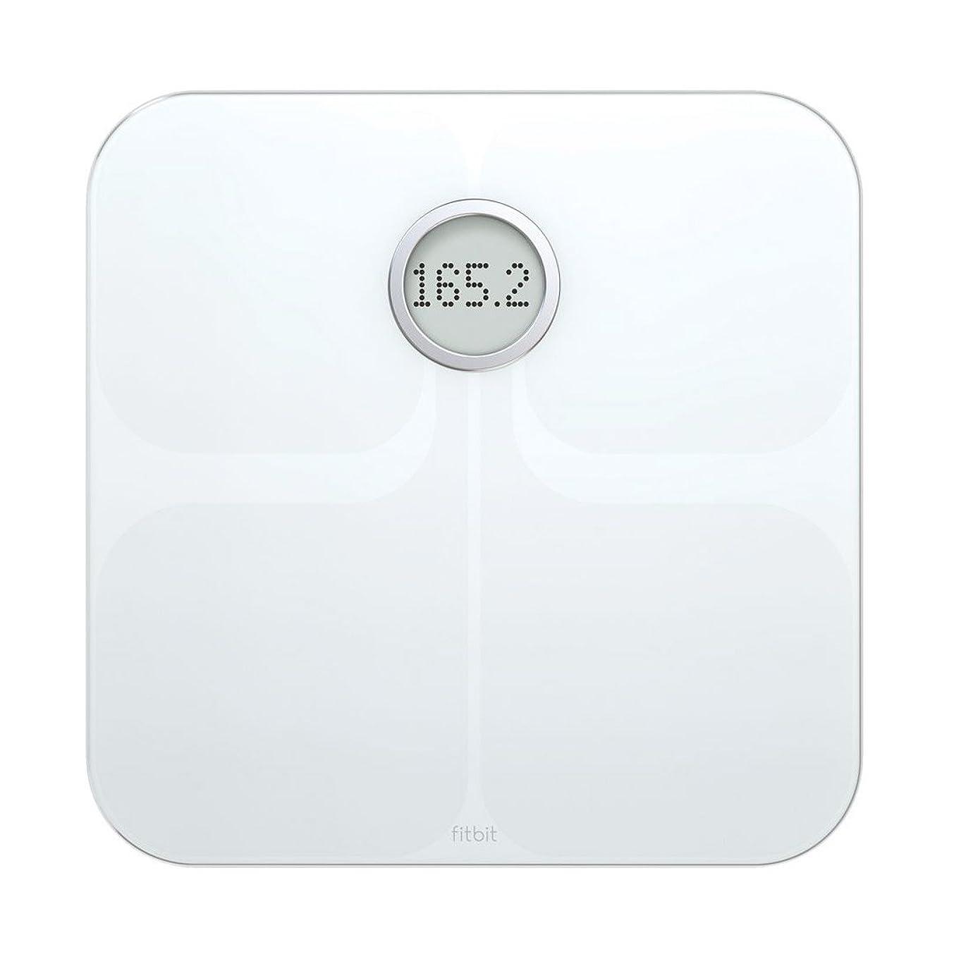 アサーおめでとう同僚Fitbit(フィットビット) Aria Wi-Fi Smart Scale 多機能体重計 White [並行輸入品]