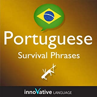 Learn Portuguese - Survival Phrases Portuguese, Volume 1: Lessons 1-30 audiobook cover art