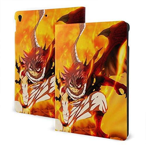 Wayne Watt Funda para iPad Funda Delgada iPad Funda iPad Fairy Tail Anime Dragon Cry Natsu Dragneel Estuche Delgado Ligero Carcasa con Soporte Tapa Inteligente Reverso Translúcido