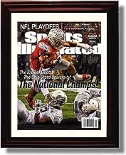 Framed Ohio State Ezekiel Elliott Sports Illustrated Autograph Replica Print - 2014 National Champs!