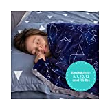 Florensi Weighted Blanket for Kids with Removable Bamboo Duvet Cover (7 Lbs & 41' x 60'), 7 Pounds Weighted Comforter, Twin Size, Cooling Blanket for Kid Baby Toddler Teenager, Machine Washable Cover