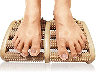 TheraFlow Foot Massager (Large) Dual Roller. Relax and Relieve Plantar Fasciitis, Heel, Arch Pain - Stress Relief Tool. Full Instructions/ Reflexology Chart Included. Relaxation Gifts for Him or Her