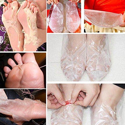 Fuß Peeling Maske Fußmaske Hornhautsocke, Colorful (TM) Entfernen abgestorbene Haut Fuß Haut glatt Peeling Füße Maske Fußpflege