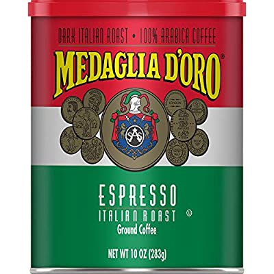 Medaglia D'Oro Italian Roast Espresso Ground Coffee, 10 Ounces