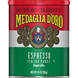 Medaglia D'Oro Italian Roast Espresso Ground Coffee, 10 Ounces (Pack of 12)