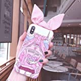 Twinlight for iPhone Xs Max Cute 3D Sailor Moon Bow Phone case for iPhone X XR XS 7 8 Plus Cartoon Girl Rabbit Ears Back Cover (Style8, for iPhone XR)