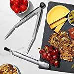 OXO Kitchen Tongs, Stainless Steel, 2-Piece Set