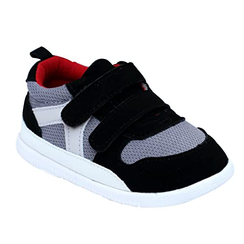 5b9b313244b6 Kuner Baby Boys and Girls Cotton Rubber Sloe Outdoor Sneaker First Walkers  Shoes