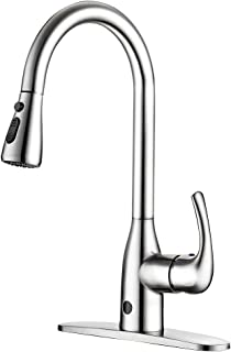 badiJum Touchless Kitchen Faucets One-Handle Kitchen Faucet Brushed Nickel