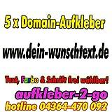 50cm, 5 Stück Domainaufkleber, Text & Farbe frei wählbar, www.dein-wunschtext.de