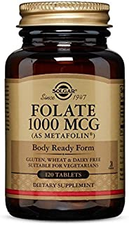 Folate 1000 MCG (Metafolin® 1,000 MCG) Tablets - 120 Count