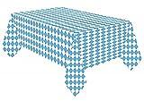 Miss Lovely Papier-Tisch-Decke Bayerische Raute weiß-blau Tisch-Dekoration/Motto-Party Bayern/Oktoberfest/Geburtstags-Deko JGA Accessoires Einweg-Deko