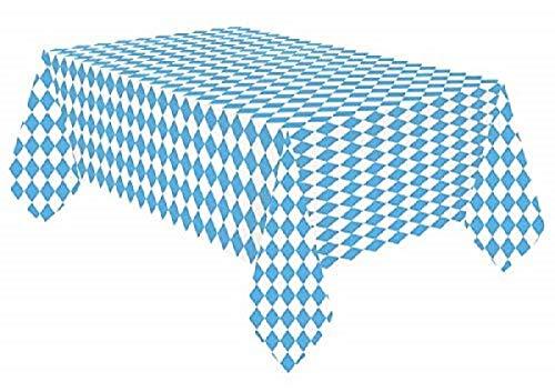 Miss Lovely papieren tafelkleed Beierse ruit wit-blauw tafeldecoratie/themafeest Beieren/Oktoberfest/verjaardag decoratie JGA accessoires wegwerpdecoratie