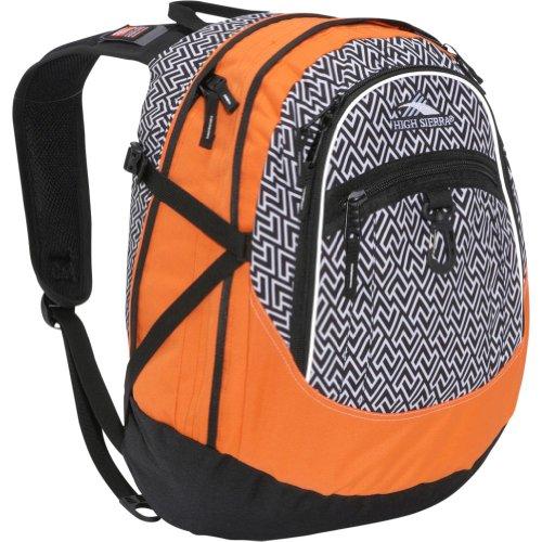 High Sierra Fat Boy Zigzag Backpack (19.5 x 13 x 7-Inch, Black/Orange)