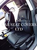 To Fit A Nissan Elgrand, Car Seat Covers, YS 01 Black Rossini Motorsports PVC Leatherette, 2 Fronts