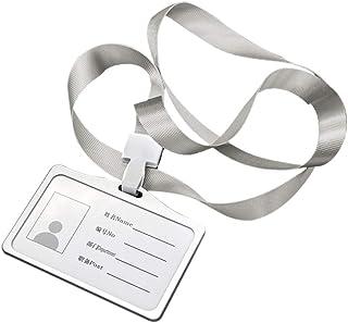 Titulaire de badge porte-carte de travail professionnel de cas de carte identité de nom identification alliage aluminium t...