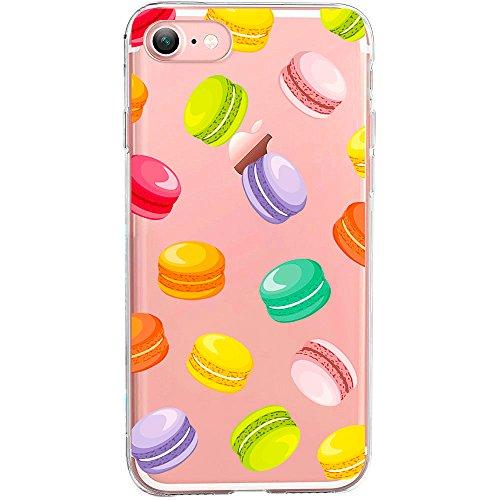 Cover compatibile per iPhone 8/7   Cover trasparente in silicone   effetto ciambella con ciambelle colorate
