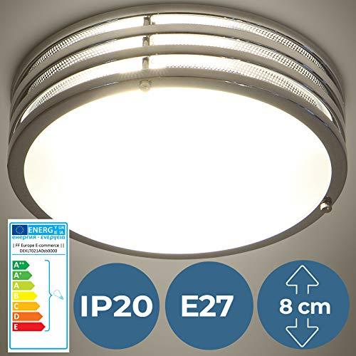 LED Deckenleuchte - EEK: A++ bis E, Ø30cm, 2-flammige, E27, Rund - Deckenlampe, Badlampe, Schlafzimmerleuchte, Wandlampe, Innenlampe - für Wohnzimmer, Badzimmer, Schlafzimmer, Flur, Esszimmer, Küche