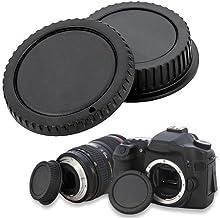 SODIAL(R) Tapa de Cuerpo de Camara y Tapa de Objetivo Trasero para Canon EOS