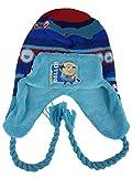 Minion Mütze Carl 770-865, Kindermütze gefüttert, versch. Farben, Gr. 54, 2-6 Jahre (hellblau Auge)