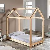 Paris Prix - Lit Enfant Design cabane 70x140cm Naturel