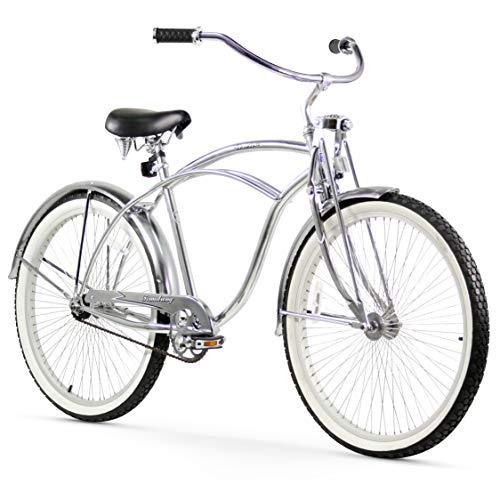 Deluxe Beach Cruiser Bicycle Lowrider Single Speed Stretched Frame Black 26 inch
