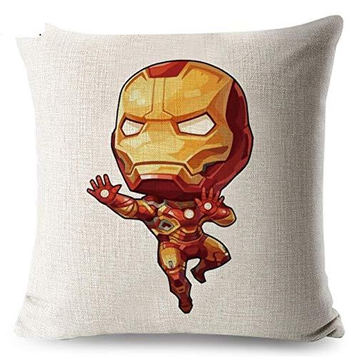 Yu Xin Avengers Disney Cartoon Marvel Superheroes Home Funda De Almohada De Lino Cojín De Coche Funda De Almohada para Niños