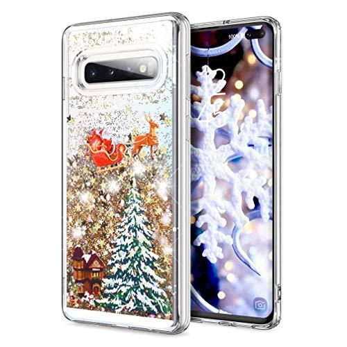 MRSTER Funda de Navidad para iPhone 11, Glitter Bling Líquido Dinámico Arena Movediza Quicksand Carcasa...