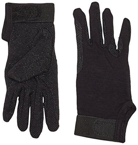 Kerbl Reithandschuhe, Jersey-Baumwolle Handschuhe Noppen, Unisex, schwarz, S