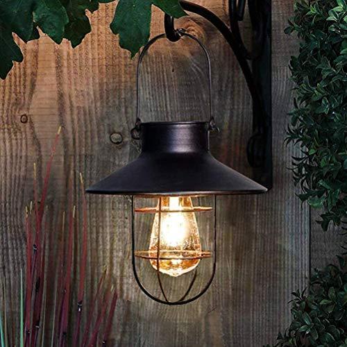 Tixiyu Linternas solares para colgar al aire libre, luz solar vintage de jardín con bombillas LED cálidas, luces de hadas al aire libre a prueba de agua, luces colgantes para jardín, patio, camino