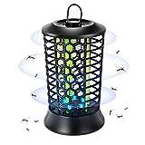 Sumairs Elektrischer Insektenvernichter, Insektenfalle Mückenlampe mit UV-Licht, Mückenschutz für Indoor-Gartencamping, leise, sicher und harmlos (schwarz)