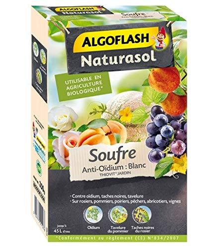 Algoflash Fongicide Naturasol Soufre Anti-Oïdium Blanc 350g (Lot de 2)