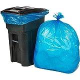 ORILEY Biodegradable Garbage Bag Eco-Friendly 50 Micron Lab Tested Bio Hazard Waste Bag for Hospital, Office, Home & Kitchen (Dark Blue, 42' x 42', 15 Pcs)
