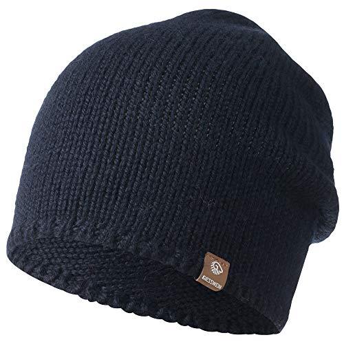 GIESSWEIN Mütze Hohloh - Leichte Strickmütze für Damen & Herren, Long Slouch Beanie aus Merinowolle, Unisex Merino Wollmütze, One Size
