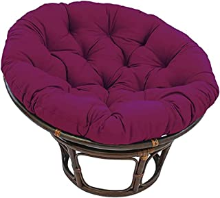 NCBH Papasan - Cojín redondo para silla de hamaca, algodón, redondo, color sólido, para colgar en el jardín de interior, 105 x 105 cm