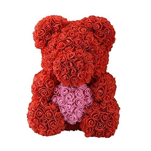 Exuberanter Rosa Oso 40cm - Artificial Oso Rosa Amor Encantador En For