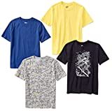 Spotted Zebra Boys' Short-Sleeve T-Shirts, 4-Pack Astro, Large