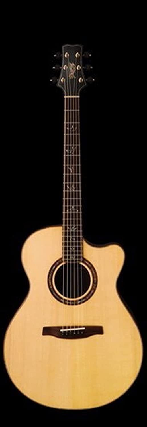 41 Inches Solid Wood Charlotte Mall Spruce Acoustic Guitar Cocobolo Eb Max 42% OFF Handmade