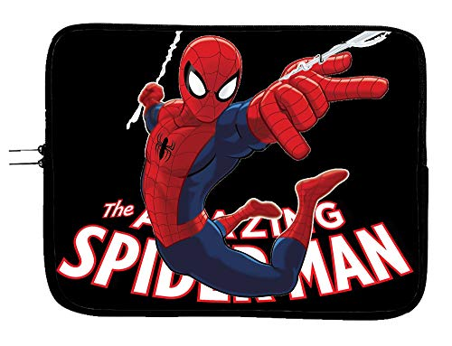 Spider Man Superhero Laptop Sleeve Bag 11 Inch Tablet & Computer Case - Protects Notebooks & Tablets - Superhero Computer Bag - Compatible with Devices Up to 11.6 Inch