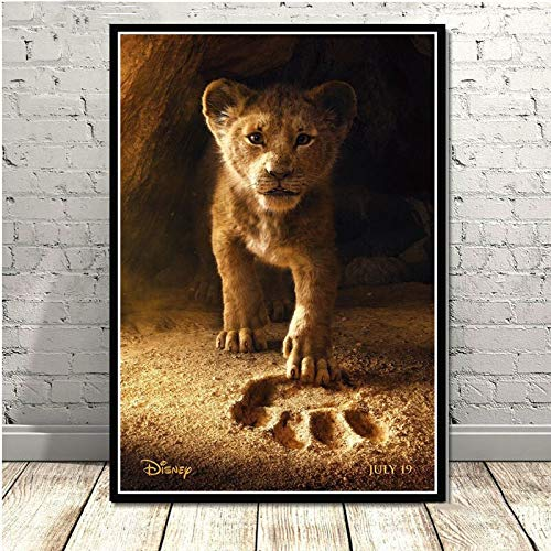 UHvEZ 1000 Pieces Wooden Puzzle Lion Movie Poster Puzzle Toy Adult Game Family Wall Decoration 50x75cm