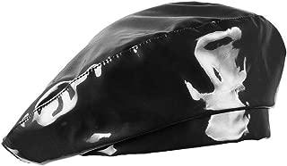 Vikodah Patent-Leather-Beret Hat Captain Cap Painter Performance Women