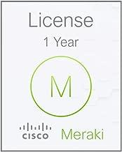 Cisco Meraki   LIC-MX64W-SEC-1YR   Meraki MX64W Advanced Security License and Support, 1YR