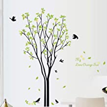 Adesivo de parede de árvore BESPORTBLE atraente verde quarto decoração para berçário, meninas e meninos, quarto de criança...