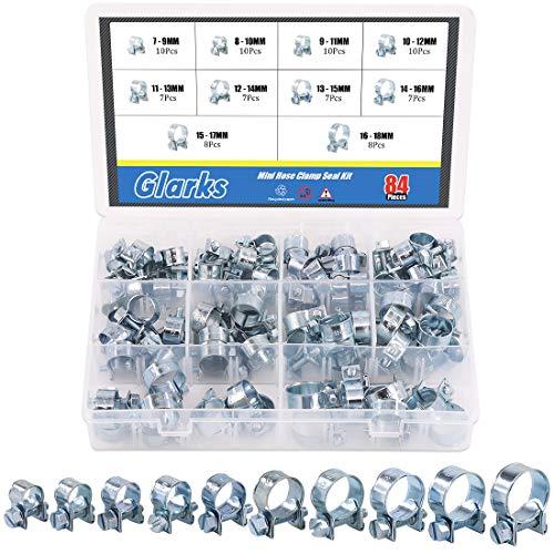 Glarks 84Pcs Hose Clamp Assortment Kit